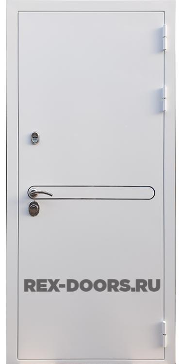 Входная металлическая дверь Rex 27 Белая шагрень