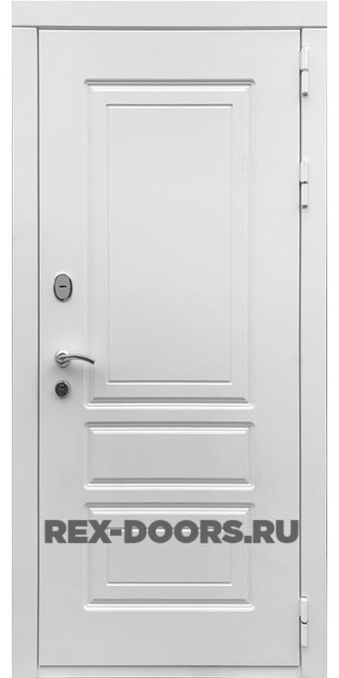 Входная металлическая дверь Rex 6 Лондон Силк Сноу (Белый матовый)