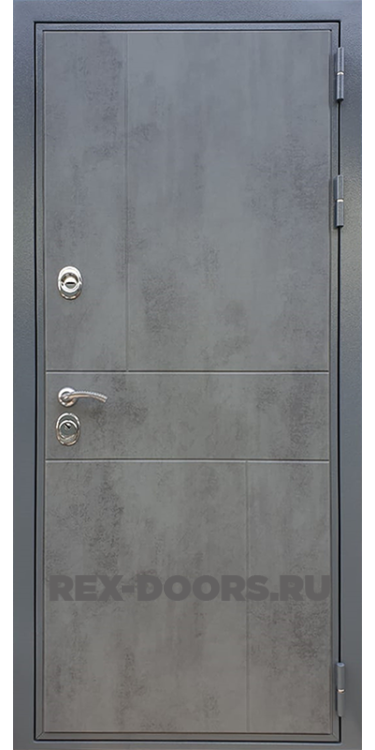 Входная стальная дверь Rex Премиум 290 Бетон темный