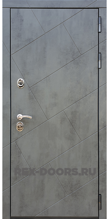 Входная стальная дверь Rex 22 ФЛ-292 Бетон тёмный