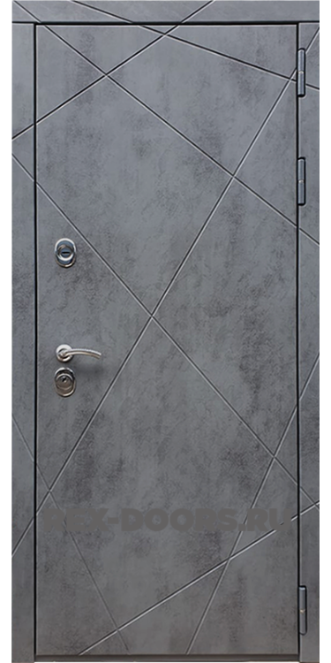 Входная стальная дверь Rex 13 ФЛ-291 Бетон темный