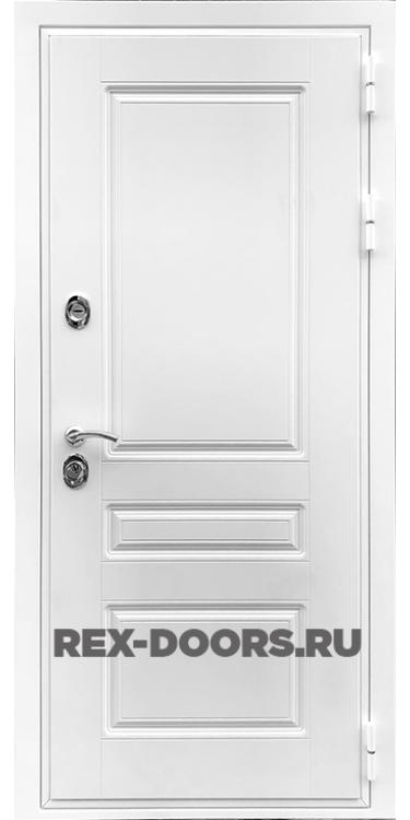 Входная металлическая дверь Rex Премиум Н Силк Сноу (Белый матовый)