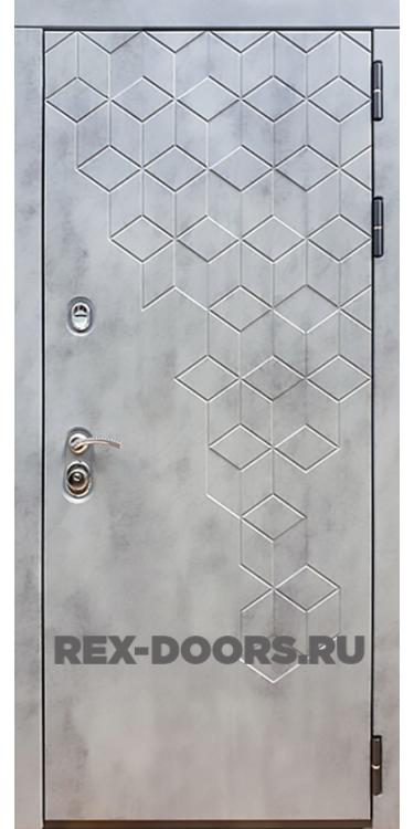 Входная стальная дверь Rex 23 Пчела Бетон тёмный