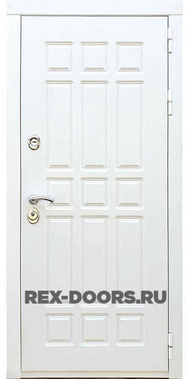 Входная металлическая дверь Rex 8 Силк Сноу (Белый матовый)