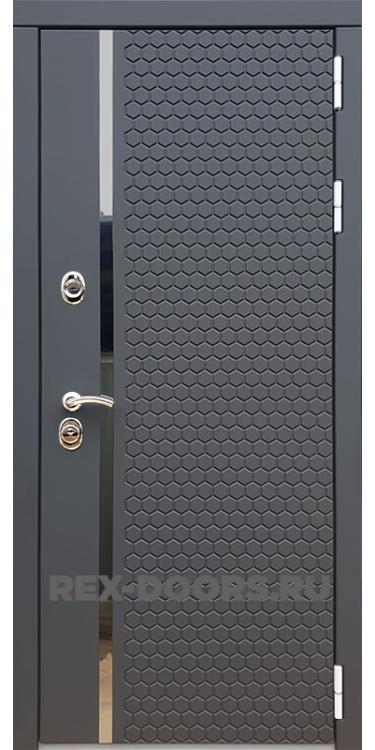 Входная металлическая дверь Rex 24 Силк Титан