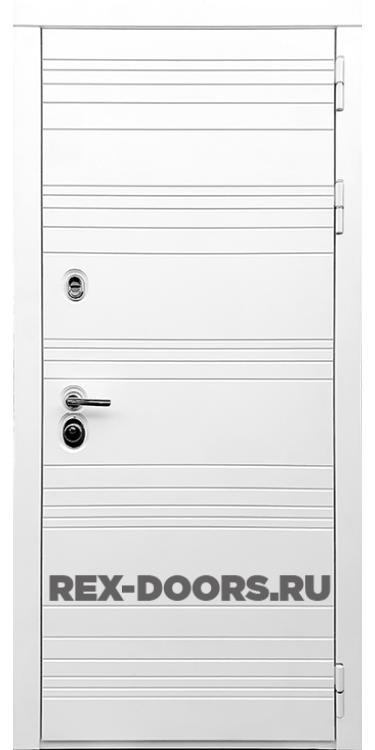 Входная металлическая дверь Rex 14 Силк Сноу (Белый)