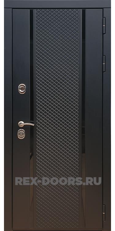 Входная стальная дверь Rex 25 Чёрный кварц