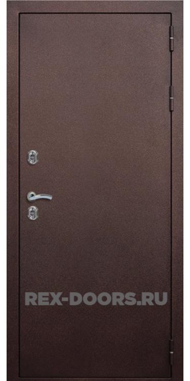 Входная металлическая дверь с терморазрывом Rex Термо 3К Медный антик