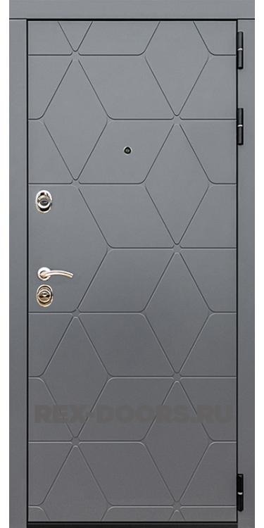 Входная металлическая дверь Rex 28 Бетон тёмный