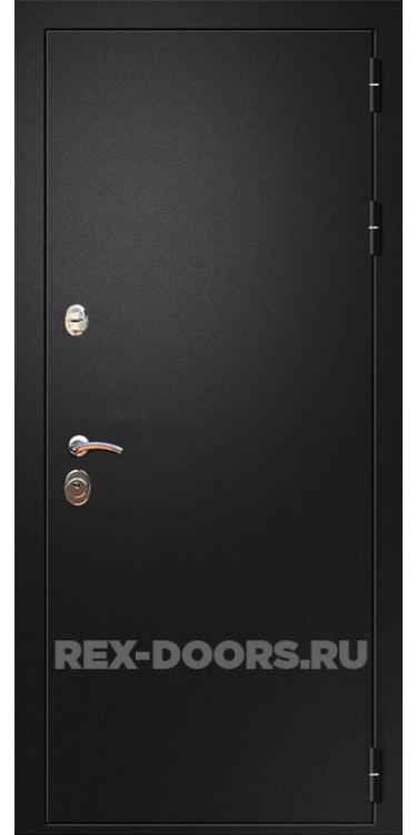 Входная металлическая дверь Rex 1A Чёрный муар
