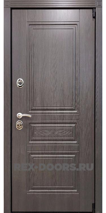 Входная стальная дверь Rex Премиум S Лиственница серая