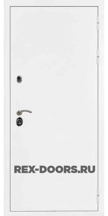 Входная металлическая дверь Rex 5A Белая шагрень